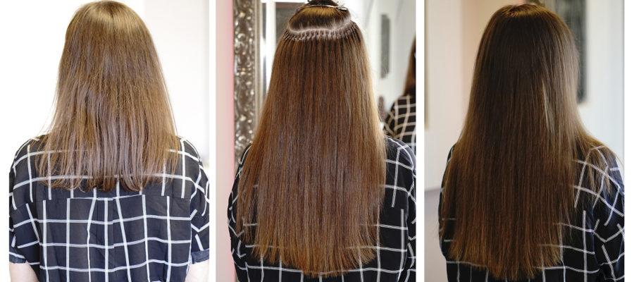 Haarverlängerung europäisches Echthaar