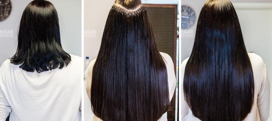 Schonende-Haarverlängerung